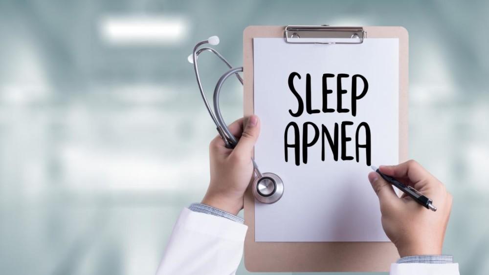 a sign with sleep apnea written on it